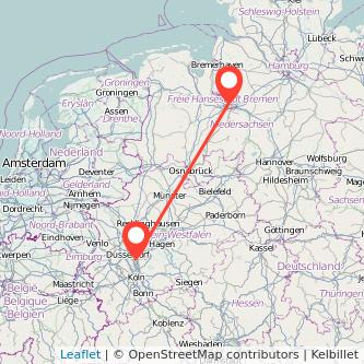 Hilden Bremen Bus Karte