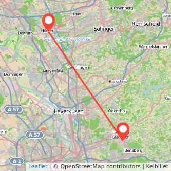 Hilden Bergisch Gladbach Bus Karte