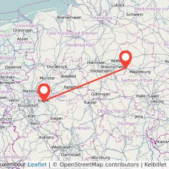 Helmstedt Hagen Bus Karte