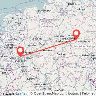 Helmstedt Duisburg Bus Karte