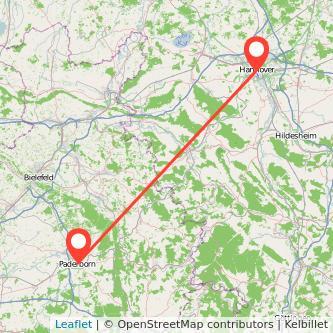 Hannover Paderborn Entfernung