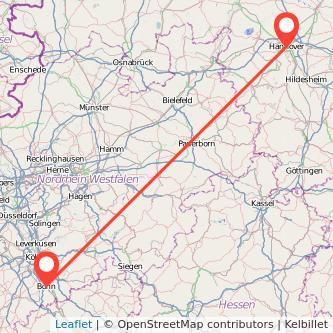 Hannover Bonn Bahn Karte