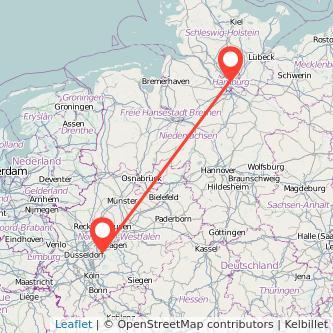 Hamburg Wuppertal Bahn Karte