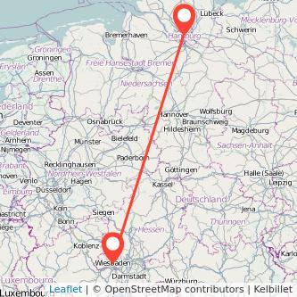 Hamburg Wiesbaden Entfernung