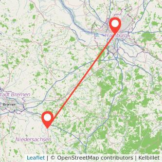 Hamburg Verden Bahn Karte