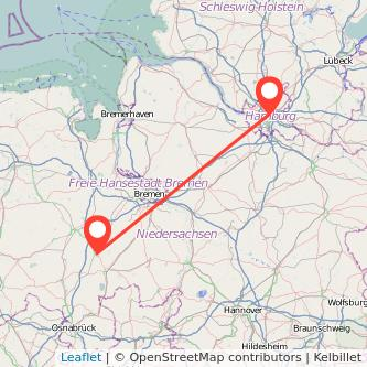 Hamburg Vechta Mitfahrgelegenheit Karte