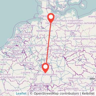 Hamburg Stuttgart Mitfahrgelegenheit Karte