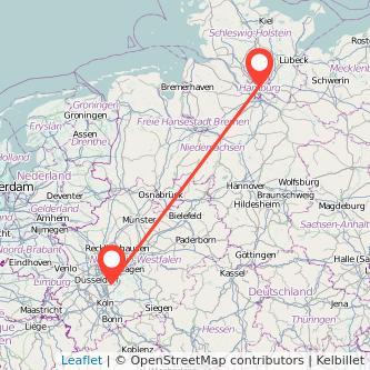 Hamburg Solingen Bahn Karte