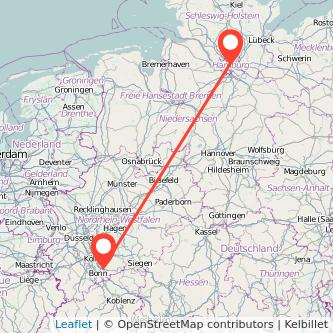 Hamburg Siegburg Bahn Karte