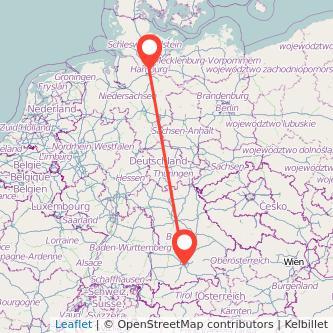 Hamburg München Mitfahrgelegenheit Karte