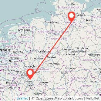Hamburg Leverkusen Mitfahrgelegenheit Karte