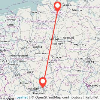 Hamburg Hanau Mitfahrgelegenheit Karte