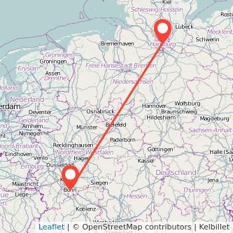 Hamburg Bonn Bahn Karte