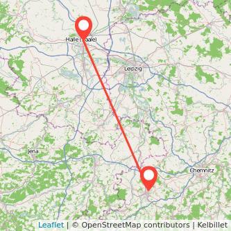 Halle Zwickau Bus Karte