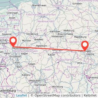 Halle Wesel Bus Karte