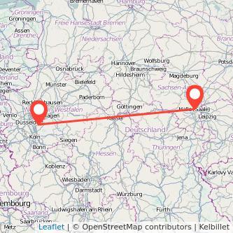 Halle Solingen Bus Karte