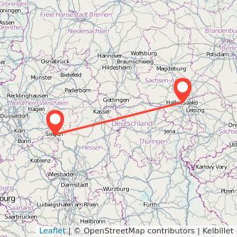 Halle Siegen Bus Karte