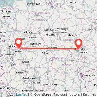 Halle Dortmund Bus Karte