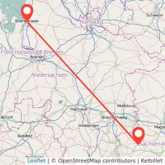 Halberstadt Bremerhaven Bus Karte