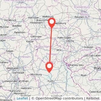 Halberstadt Bamberg Bus Karte