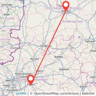 Hagen Bremen Bus Karte