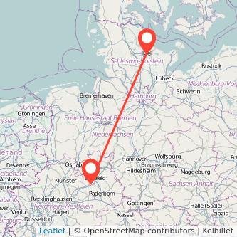 Gütersloh Kiel Bus Karte