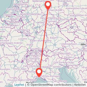Goslar Genua Bus Karte