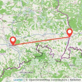 Görlitz Dresden Mitfahrgelegenheit Karte
