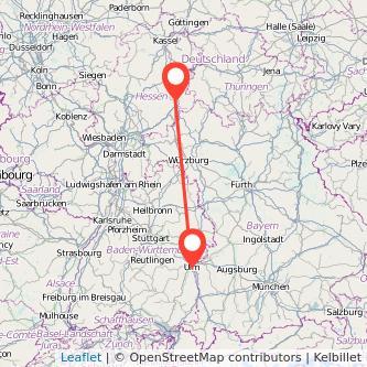 Fulda Ulm Bahn Karte