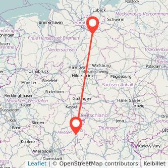Fulda Lüneburg Bahn Karte