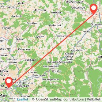 Fulda Hanau Bus Karte