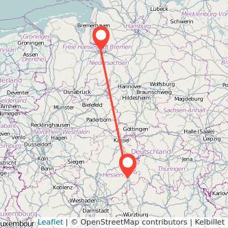 Fulda Bremen Bus Karte