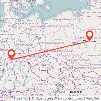 Fulda Warschau Bus Karte