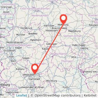 Frankfurt am Main Wolfsburg Bahn Karte