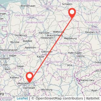 Frankfurt am Main Wittenberge Bus Karte