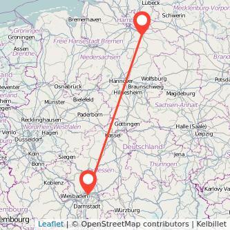 Frankfurt am Main Lüneburg Bus Karte