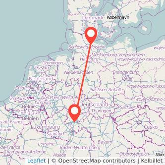 Frankfurt am Main Kiel Bahn Karte