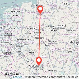 Frankfurt am Main Bremen Bahn Karte