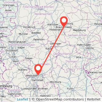 Frankfurt am Main Braunschweig Bahn Karte