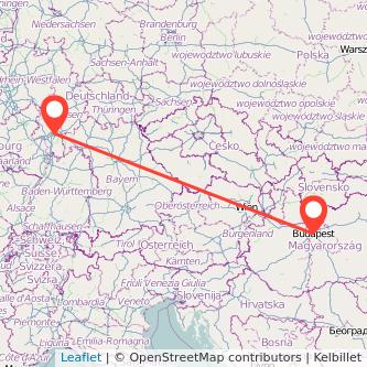Frankfurt am Main Budapest Bus Karte