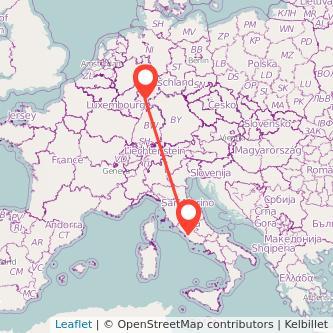 Frankfurt am Main Rom Bahn Karte