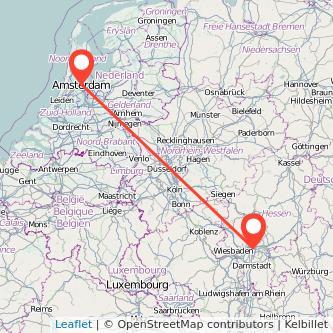 Frankfurt am Main Amsterdam Mitfahrgelegenheit Karte