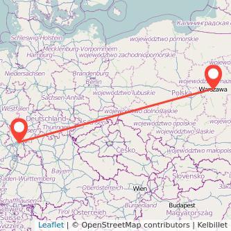 Frankfurt am Main Warschau Bahn Karte