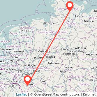 Euskirchen Neumünster Bus Karte