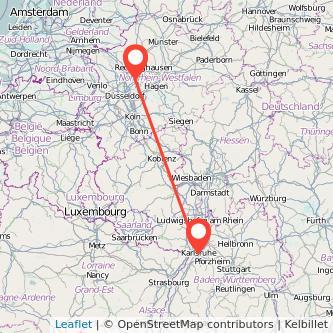 Essen Karlsruhe Bus Karte