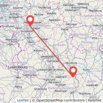 Essen Crailsheim Bus Karte