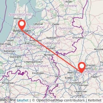 Essen Amsterdam Bus Karte