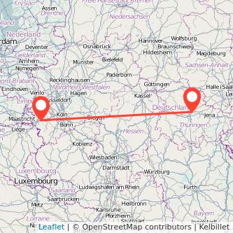 Eschweiler Erfurt Bus Karte