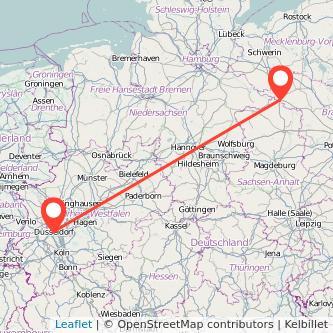 Düsseldorf Wittenberge Bus Karte
