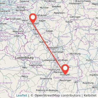 Düsseldorf Stuttgart Mitfahrgelegenheit Karte